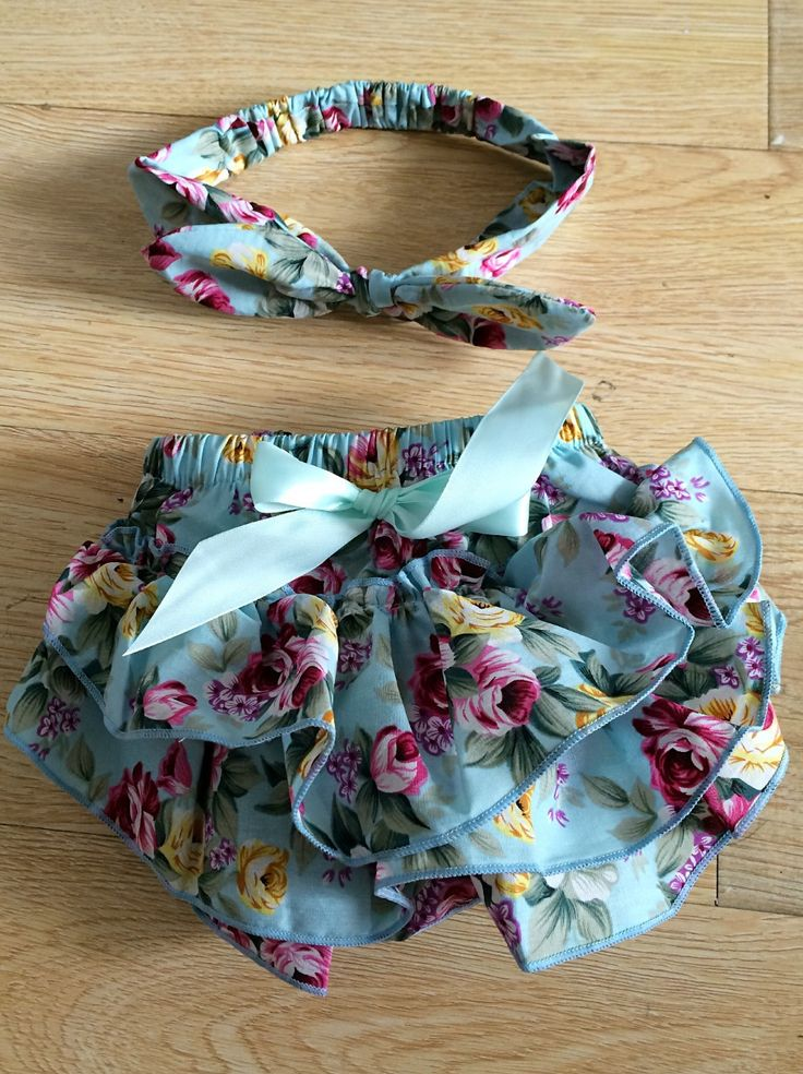 Infantil vestidos niña recién nacido Bloomers del bebé niñas florales Shorts + Headband fijado ropa Ruffles Bloomers 1 Year ropa cumpleaños en Shorts de Bebés en AliExpress.com | Alibaba Group