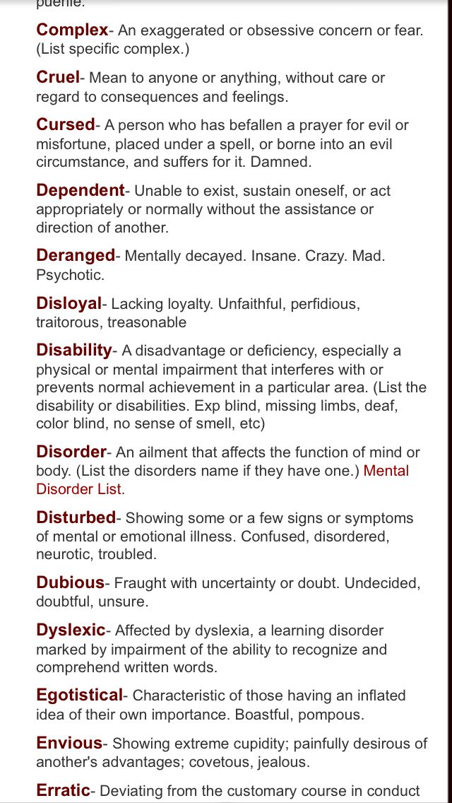 Someone commented some of these as flaws? How fudging dare you! Having a disability isn't a character flaw