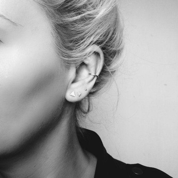 Minimal 4 piece earring set by StillWithYou on Etsy, $75.00