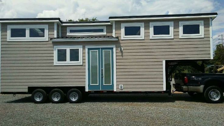 """The Lookout; a beautiful tiny house on wheels from Tiny House Chattanooga and winner of """"Best in Show"""" at the 2016 Tiny House Jamboree."""