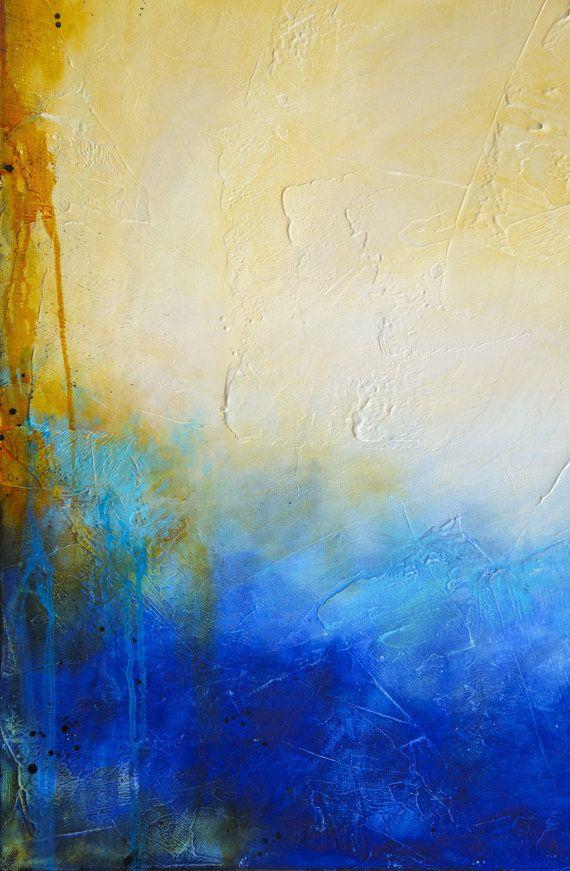 Pergamino 24 x 24 pintura acrílica abstracta Textured