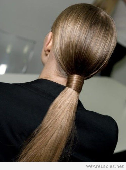Chic slicked back ponytail hairstyle