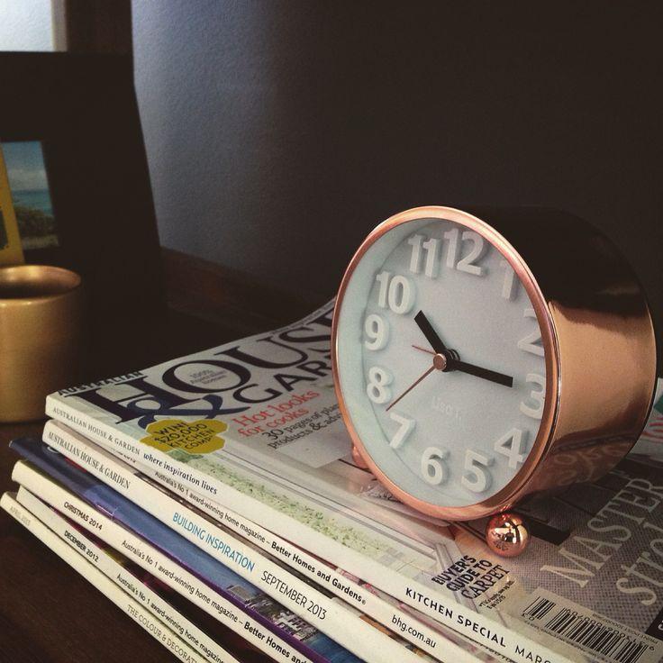Desk clock target australia copper clock decor