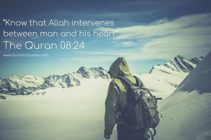 Allah intervenes between man and his heart. ❤️ #Quran #Allah #Faith