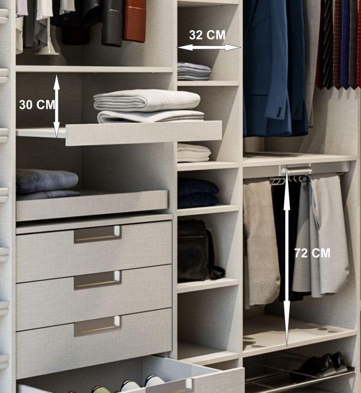 Las 25 mejores ideas sobre armarios empotrados en - Distribuir armario empotrado ...