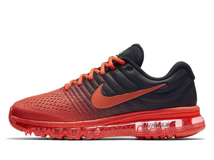 Nike Air Max 2017 849559_600 Chaussures de Running Pas Cher Pour Homme  Rouge Noir-Achetez en ligne les articles signés Nike.