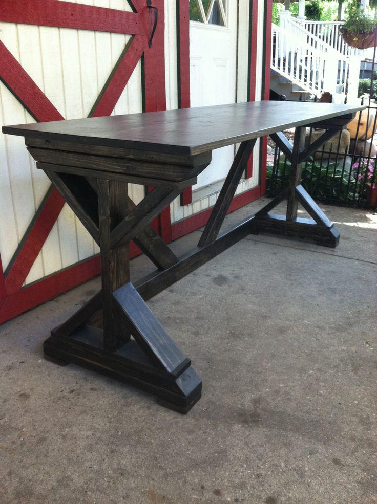 Foldable Desk / Farmhouse Desk / Rustic by WolfcreekFurnitureCo