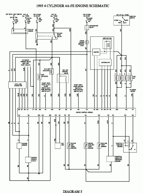 Toyota 5a Engine Wiring Diagram And Repair Guides In 2021 Electrical Wiring Diagram Kenworth T600 Electrical Diagram
