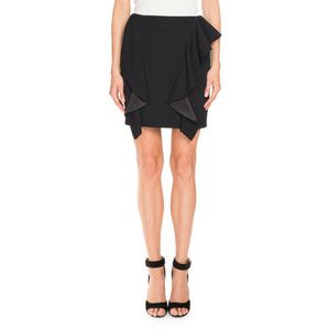 Givenchy Double-Ruffle Wool Mini Skirt