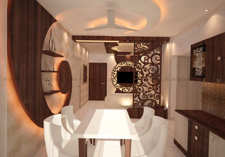 The whole apartment has customized false ceiling designed with the 'Mughalai' theme in mind.