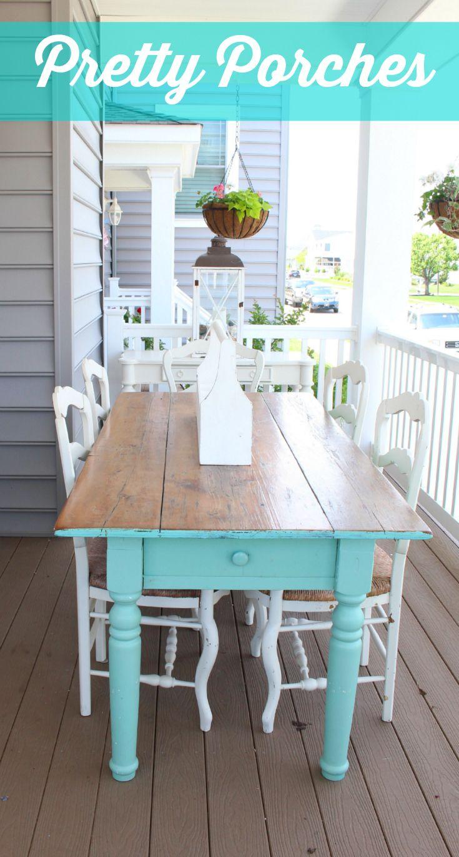 Pretty Porch table summer porch