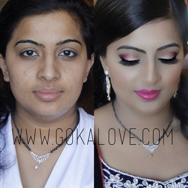 Bridal Makeup Pictures Before And After : Indian Bridal Makeup Before And After - Mugeek Vidalondon