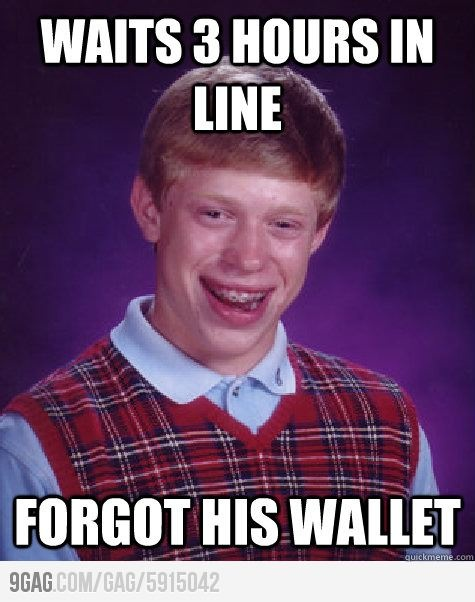 Bad Luck Brian during Black Friday