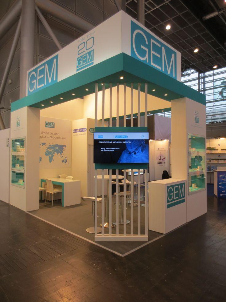 MEDICA - Messe Düsseldorf. GEM. Ricerca, analisi, promozione e comunicazione. Progettazione e realizzazione dell'allestimento dello stand. Photo by honegger