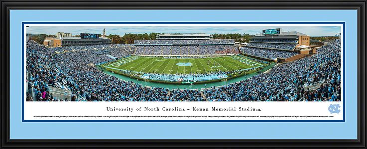 UNC Tar Heels Football Panoramic - Kenan Memorial Stadium Picture