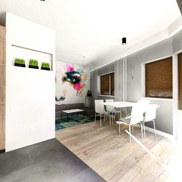 Salon w mieszkaniu na osiedlu w Swarzedzu, architekt Swarzedz Słupca Września Poznań Projekty domów, mieszkań, ogrodów, wnętrz. www.479.com.pl #projekt #mieszkanie #architekt #swarzedz #slupca
