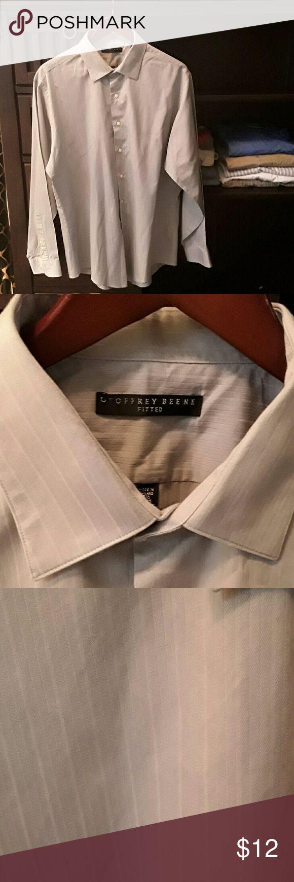 Men's shirt Geoffrey Beene Grey, very elegant. New condition. No flaws. 17 1/2 x 34/5. Wrinkle free. Geoffrey Beene Shirts Dress Shirts