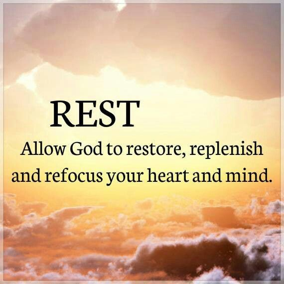 ...so on the seventh day He rested from all His work. Genesis 2:2 ( KJV)