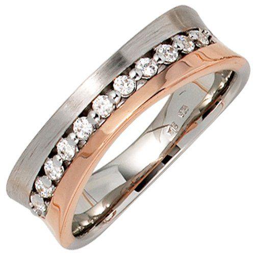 JOBO Damen-Ring 585 Weißgold Rotgold kombiniert teilmattiert 11 Diamant-Brillanten Größe 56 Jobo http://www.amazon.de/dp/B00ET02K00/ref=cm_sw_r_pi_dp_2.M6tb0Y80AT6