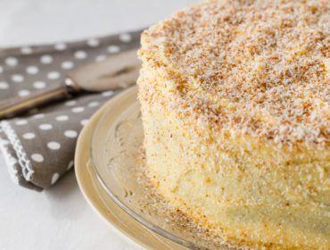 Coconut & Peach Cake