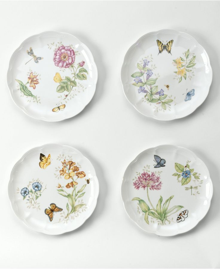 "Lenox ""Butterfly Meadow"" Dinner Plate - Casual Dinnerware - Dining & Entertaining - Macy's"