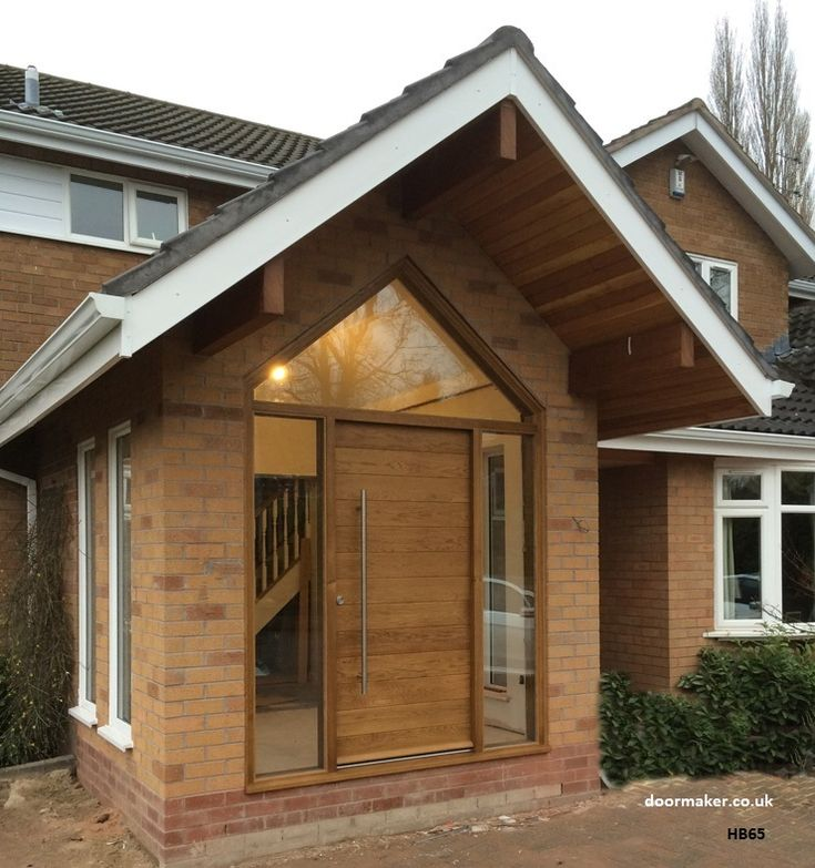 contemporary oak door glazed apex frame and sidelights