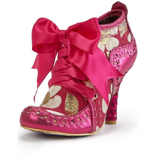 Irregular Choice Abigail'S Third Party Boot ($125) ❤ liked on Polyvore featuring shoes, boots, ankle booties, sequin booties, pink sequin boots, irregular choice boots, party boots and pink booties