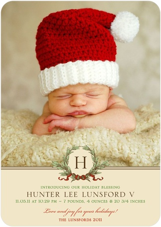 This holiday birth announcement is too cute for words!
