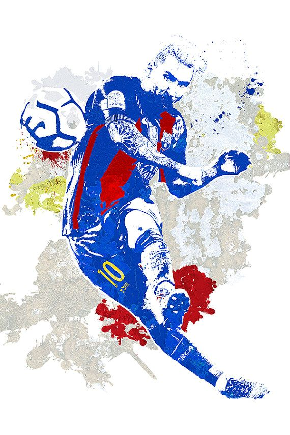 Lionel Messi Leo FC Barcelona fútbol La Pulga por GoFigureArtStudio