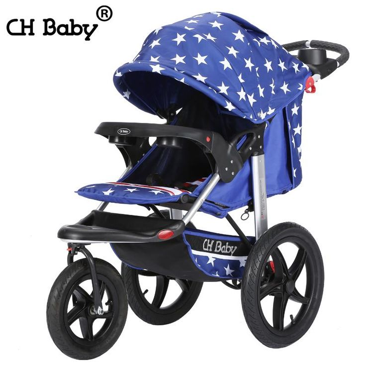 16 inch air filled rubber wheel baby stroller, high