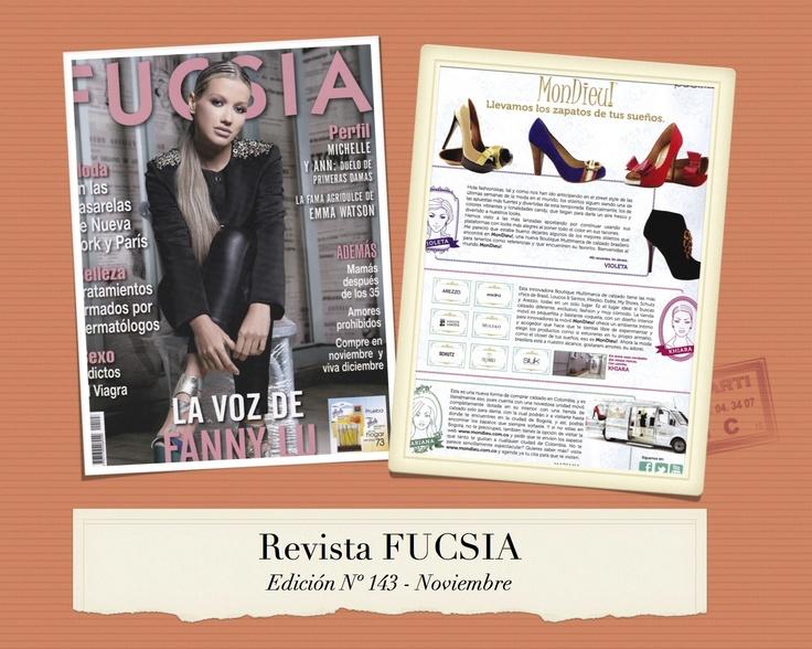MonDieu! en la revista FUCSIA Nº 143 del mes de Noviembre.