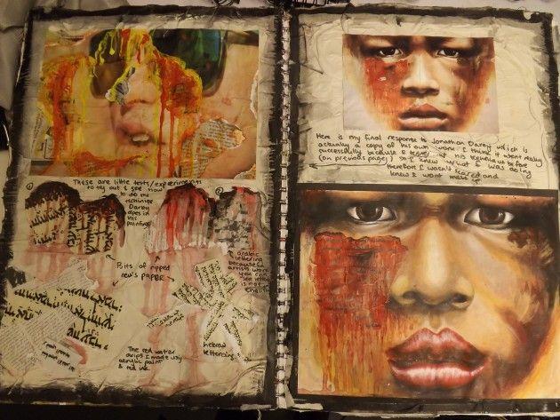 sketchbook page by Anastasiia