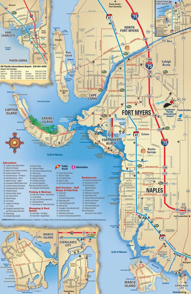 Map of Sanibel Island Beaches | ... Beach, Sanibel, Captiva, Naples, Marco Island, Everglades City, Bonita