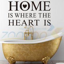 O lar É Onde O Coração Está em casa decoração creativewall decalque ZooYoo8123 decorativo adesivo de parede removível adesivo de parede de vinil(China (Mainland))