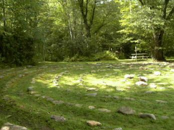 The Otto Labyrinth Park at Mountain Valley Center, Smoky Mountains, NC