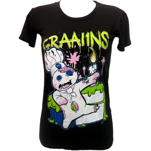 Goodie Two Sleeves Graaiins T-Shirt | Gothic Clothing | Emo clothing |... ($31) ❤ liked on Polyvore