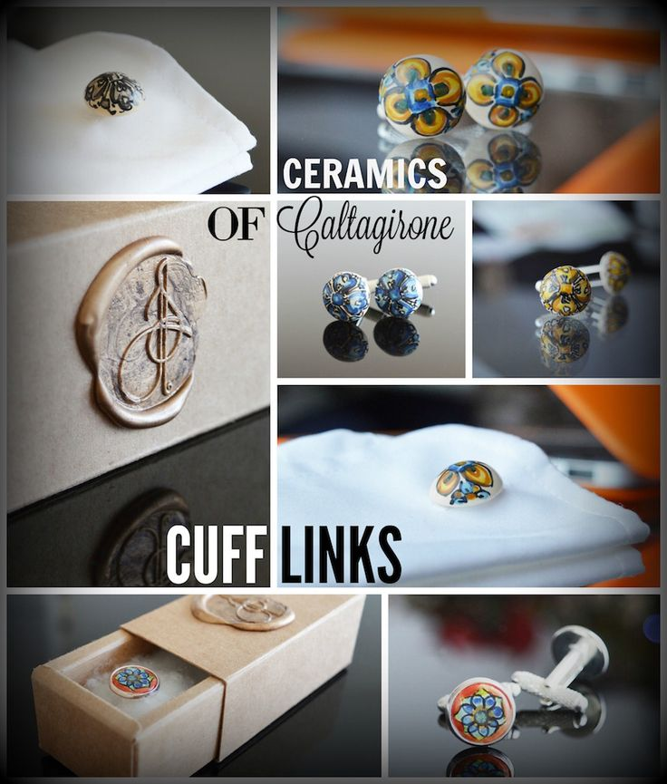 Lovingly shaped and painted by hand these amazing ceramic beads came all the way from Caltagirone in Sicily to the UK to be assembled by us and made into unique cuff links. These original pieces will make a truly one of a kind addition to your attire.