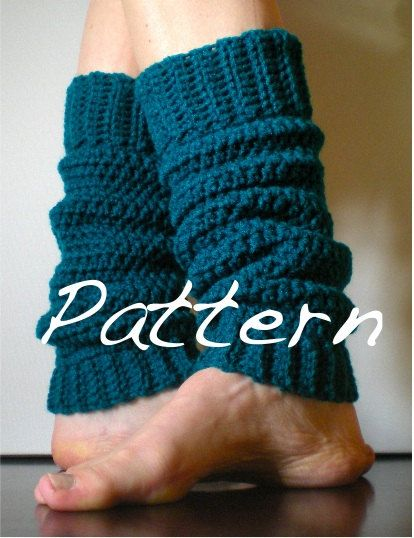 PATTERN:  Classic Warmers, Easy Crochet, Ballet, Dance, Yoga, Leg Warmers, yoga socks, slouchy, ankle, old school, Permission to Sell. $4.99, via Etsy.