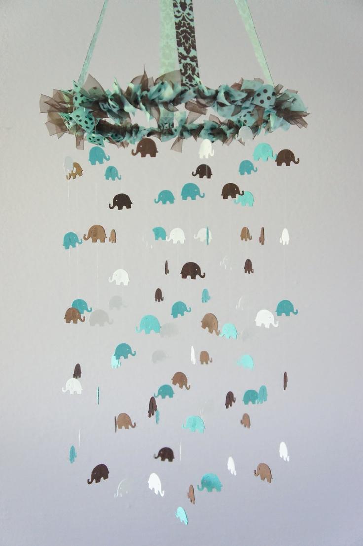 Baby Boy Nursery Decor - Blue Nursery Mobile, Baby Shower Gift, Photographer Prop