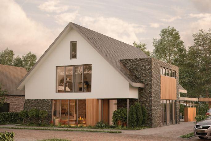 Nieuwbouwwoning Prinses Amaliahof in Nunspeet   Ontwerp voor een modernenieuw te bouwen vrijstaande woning aan de Prinses Amaliahof te Nunspeet.