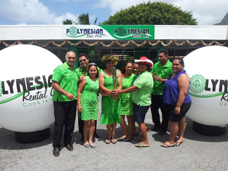 It was pretty cool having the Queen's Baton come through Rarotonga! Here is the Polynesian Cars team holding the Baton. #queensbaton