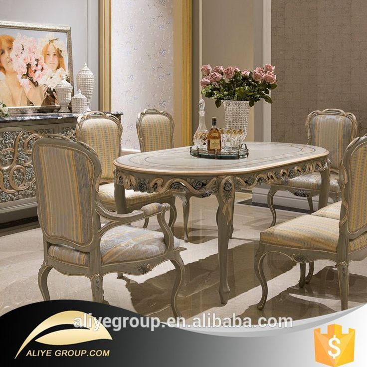 Solid High End Furniture Dining Table Set Made In China F126
