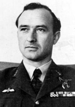 Major (Squadron Leader) Hernyk Pietrzak (06 March 1914 - 28 January 1990). Victories: 7 & 1/2 confirmed - 1 probable - 1 damaged (also shot down 5 flying bombs V-1). Awards: Krzyż Srebrny Orderu Virtuti Militari (The Silver Cross of Virtuti Militari), Krzyż Walecznych 4-krotnie (Cross of Valour and 3 bars), Distinguished Flying Cross.