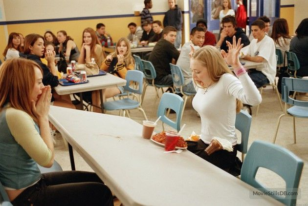 Mean Girls - Publicity still of Amanda Seyfried & Lindsay Lohan