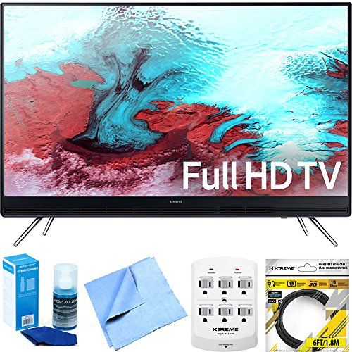 """nice Samsung UN40K5100A - 40"""" Full HD 1080p LED HD TV w/ Accessory Bundle includes Television, Cleaning Cloth, Screen Cleaner, 6 Outlet Wall Tap w/ 2 USB Ports and 6 ft HDMI Cable"""
