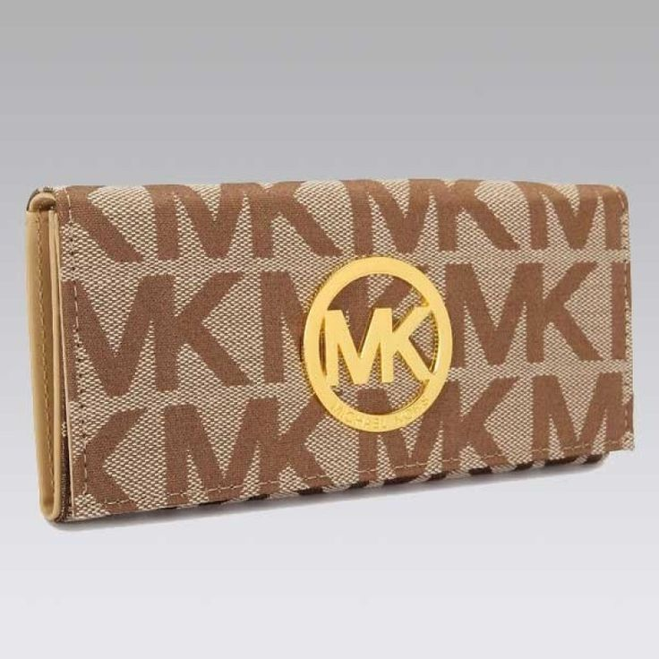 MICHAEL Michael Kors Continental Logo Medium taupe Wallet