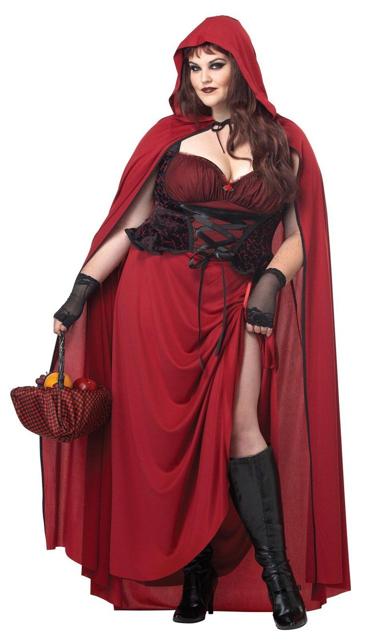 Dark Red Riding Hood Plus Size Costume from @buycostumes #OrangeTuesday #ad