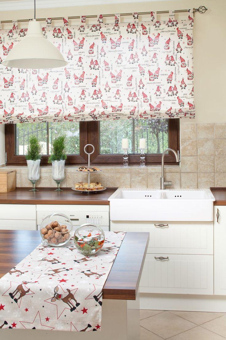 Świąteczna kuchnia - roleta na szelkach http://www.dekoria.pl/offer/fabrics_collection/62/Kolekcja-Christmas