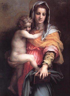 Andrea del Sarto (Italian painter, 1486-1531) Madonna of the Harpies detail