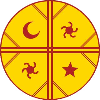 Mandala mapuche Meli witran mapu: land of the four places, the earth and the four cardinal directions